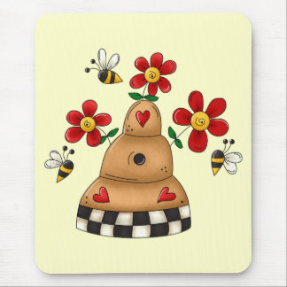 Spring Beehive Mouse Pad
