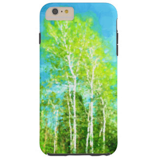 Spring Birch Trees Tough iPhone 6 Plus Case