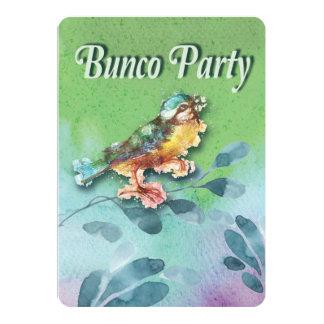 Spring Bird Bunco Party Watercolor Invite