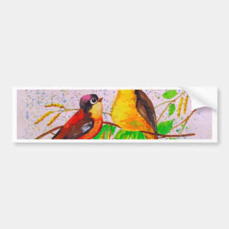 Spring birds bumper sticker