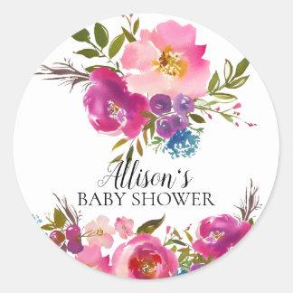 Spring Bloom Floral Baby Shower Envelope Seal