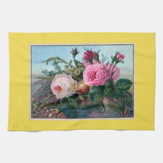 Spring Blooming Flowers Kitchen Towel