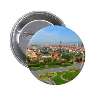 Spring blooms in Florence 6 Cm Round Badge