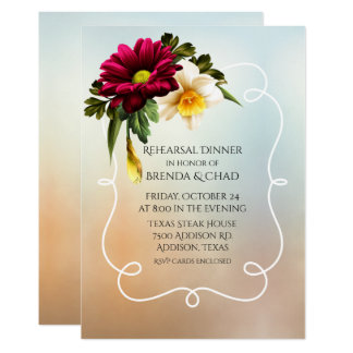 Spring Blooms Wedding Rehearsal Dinner Card
