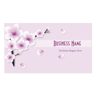 Spring Blossom Purple Flowers Business Business Card