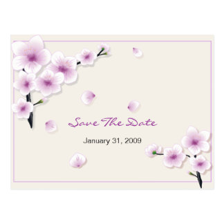 Spring Blossom Save the Date Wedding Announcement Postcard