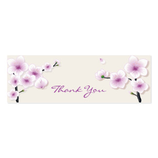Spring Blossom Thank You Tag Pack Of Skinny Business Cards