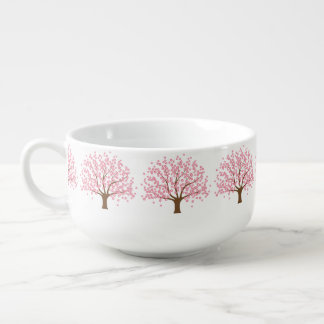 Spring Blossom Tree Soup Bowl With Handle