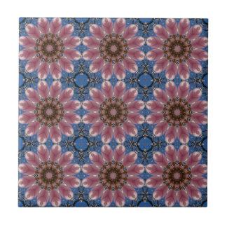 Spring blossoms 2.4, Floral mandala-style Ceramic Tile