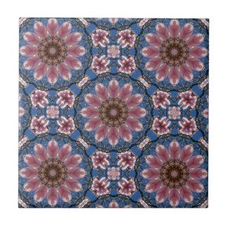 Spring blossoms 2, Floral mandala-style Ceramic Tile