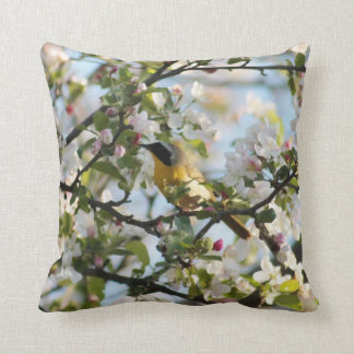 Spring blossoms and Warbler Cushion