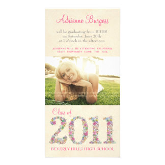 Spring Blossoms Class of 2011 Graduation PhotoCard Photo Greeting Card