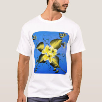 SPRING BLOSSOMS ON BLUE BACKGROUND T-Shirt