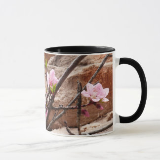 Spring Blossoms on Zion Red Rocks Mug