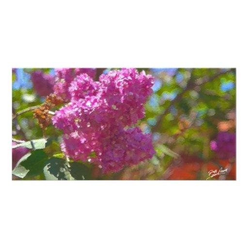 Spring Blossoms Custom Photo Card
