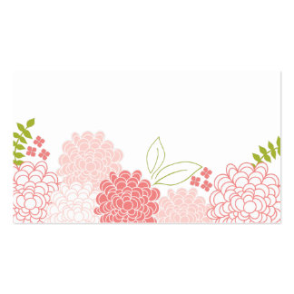 Spring Blossoms Wedding Place Cards Pack Of Standard Business Cards