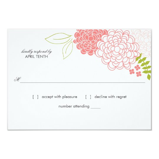 Spring Blossoms Wedding Response Card