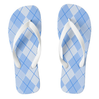 Spring-Blue-Argyle_Preppie's(C)Multi-Styles Thongs