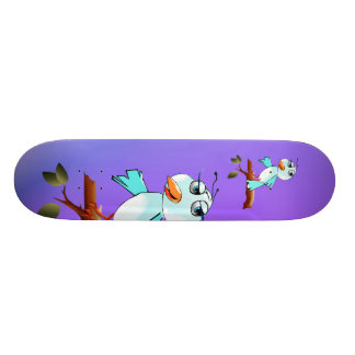 Spring Blue Bird Skateboard