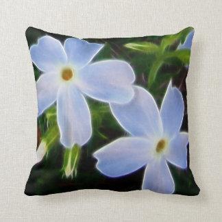 Spring blue fantasy flowers cushion
