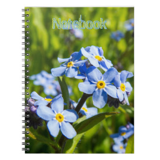Spring Blue Flowers Spiral Notebook