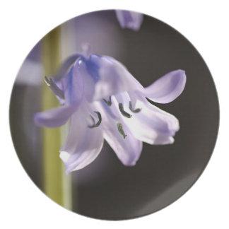 Spring Bluebell Flower Melamine Plate