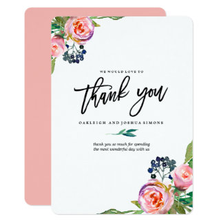 Spring Bohemian Bouquet Thank You Card