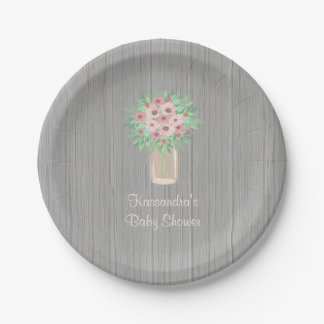 Spring  Bouquet Baby Shower Personalized Plate