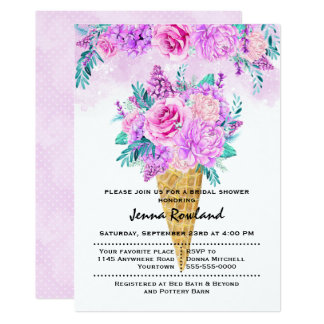 Spring Bouquet Bridal Shower Invitation