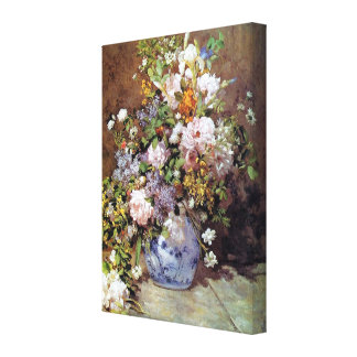Spring Bouquet by Renoir Stretched Canvas Prints