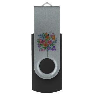 Spring Bouquet Flowers Butterflies USB Flash Drive