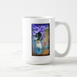 Spring bouquet of purple flowers mug.