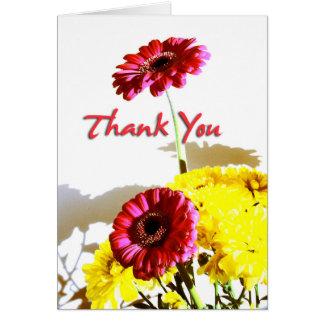 Spring Bouquet Sympathy Thank You 3 Card