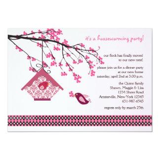Spring Branch Birdhouse Invitation