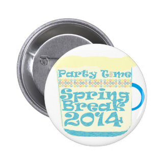 Spring Break 2014 6 Cm Round Badge