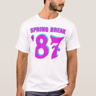 SPRING BREAK '87 T-SHIRT! (no graphic on back) T-Shirt