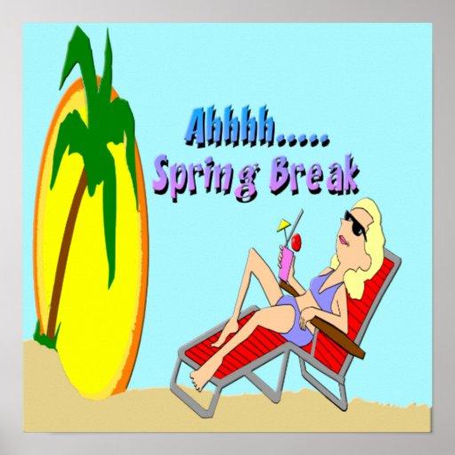 Spring Break Beach Poster