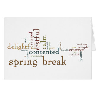 Spring Break (Blank Inside) Card