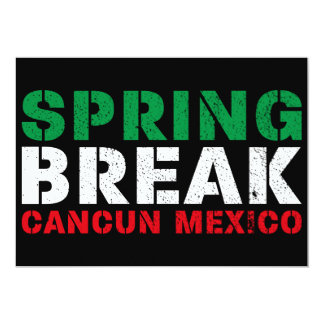 Spring Break Cancun Mexico Card