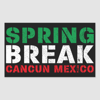 Spring Break Cancun Mexico Rectangular Sticker