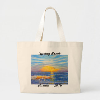 """SPRING BREAK FLORIDA 2016 TOTE"" JUMBO TOTE BAG"