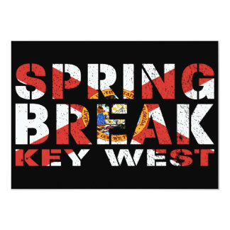Spring Break Key West Florida Card
