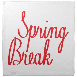Spring Break Napkin