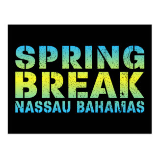 Spring Break Nassau Bahamas Postcard