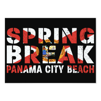 Spring Break Panama City Beach Card
