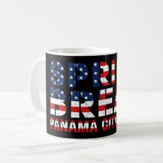 Spring Break Panama City Beach US Flag Coffee Mug
