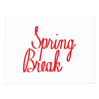 Spring Break Postcard