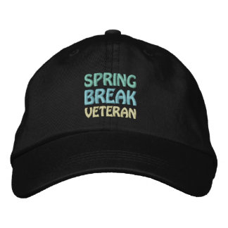 SPRING BREAK VETERAN 1 cap Embroidered Hats