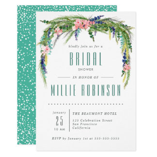 Spring Bridal Shower Invite w/ Watercolor Flowers