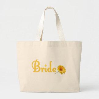 Spring Bride Tote Bag Yellow Flower